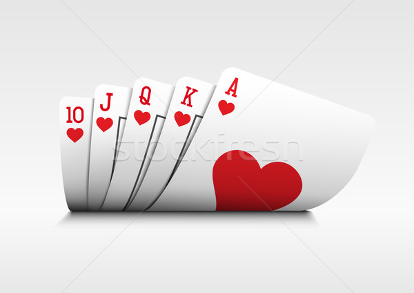 Royal Flush Poker Cards On White Vector Illustration C Sgursozlu 1674894 Stockfresh