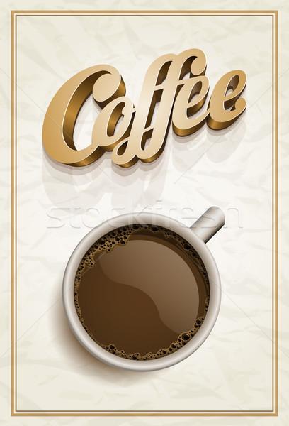 Caffè poster modello vettore realistico Cup Foto d'archivio © sgursozlu