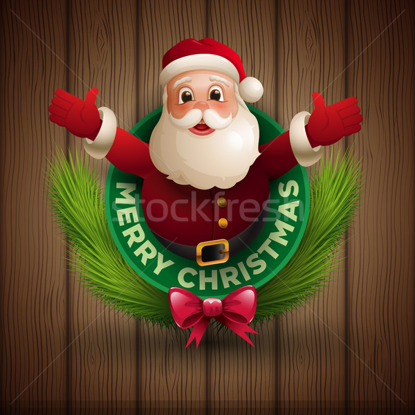 Santa Claus giving a big hug Stock photo © sgursozlu