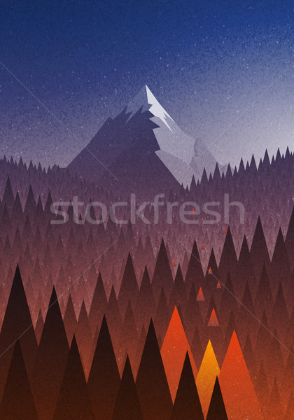 Сток-фото: большой · горные · лесной · пожар · аннотация · природы · пейзаж