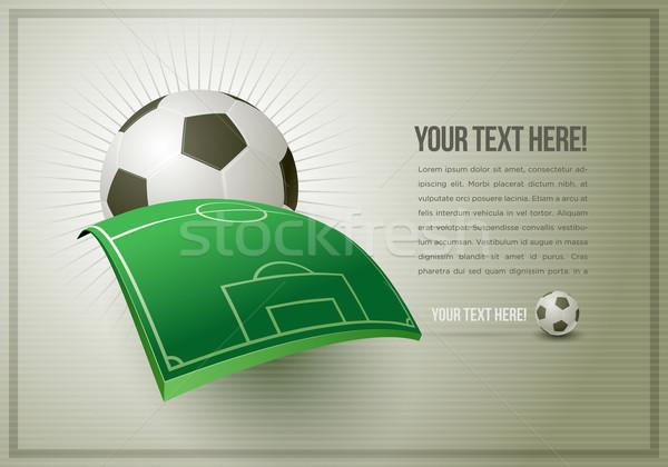 Football Design Template Stock photo © sgursozlu