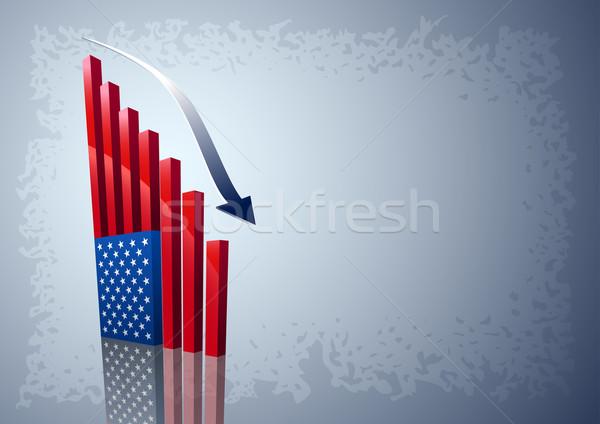 American flag chart Stock photo © sgursozlu
