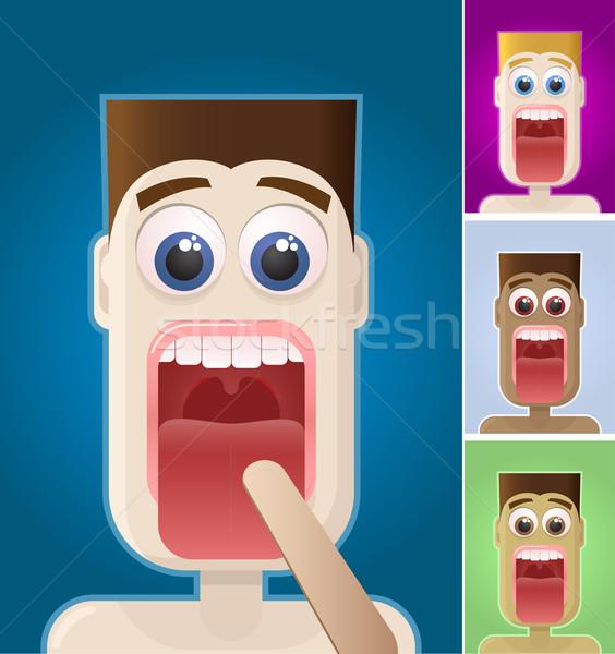 Exame médico vetor menino retrato elementos Foto stock © sgursozlu