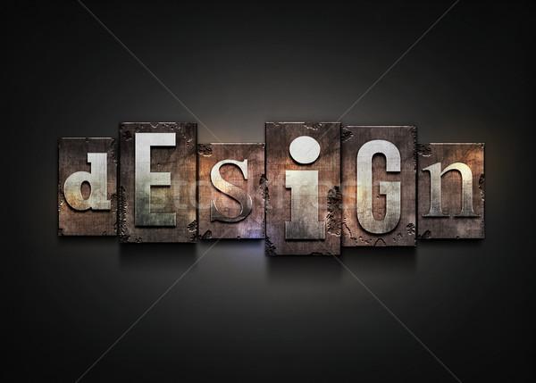 Stock photo: Design letterpress.