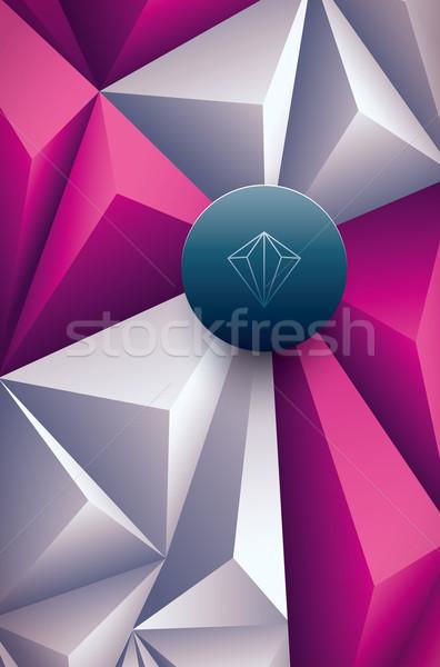 Polygonal background Stock photo © sgursozlu