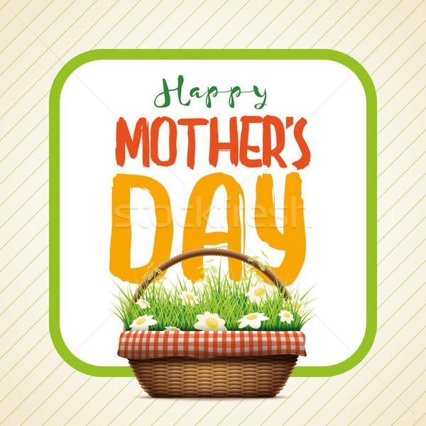 Feliz dia das mães dia projeto ilustração realista Foto stock © sgursozlu