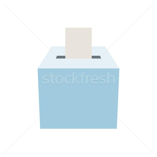 Szavazócédula doboz ötlet választás ikon választás Stock fotó © sgursozlu