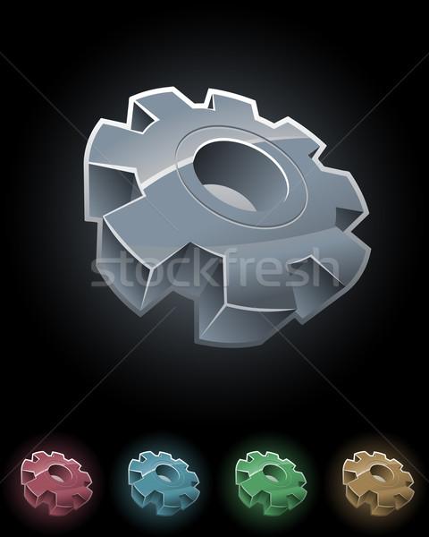 Stock foto: Gang · Rad · Symbol · Set · Vektor · Elemente