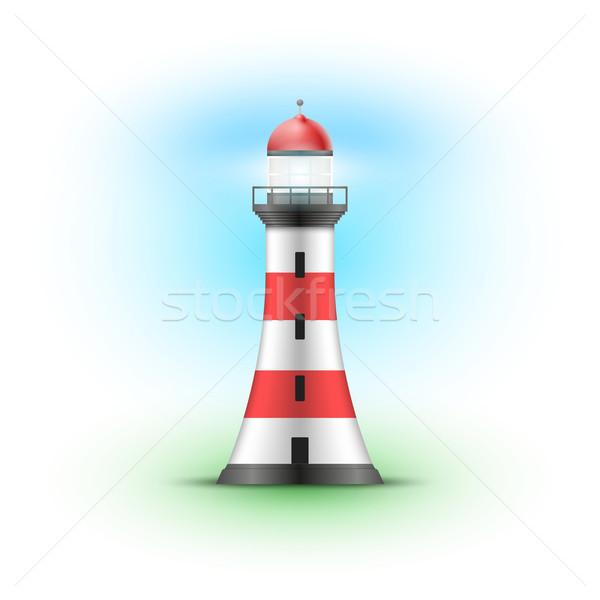 Vector Lighthouse Illustration.  Stock photo © sgursozlu