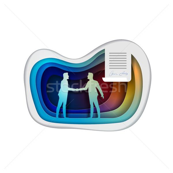 Business Agreement Concept Vector Illustration Stock photo © sgursozlu