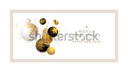 Alegre natal modelo de design abstrato ano novo cartão Foto stock © sgursozlu