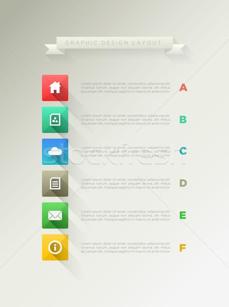 Sayfa dizayn düzen uzun gölge ikon Stok fotoğraf © sgursozlu