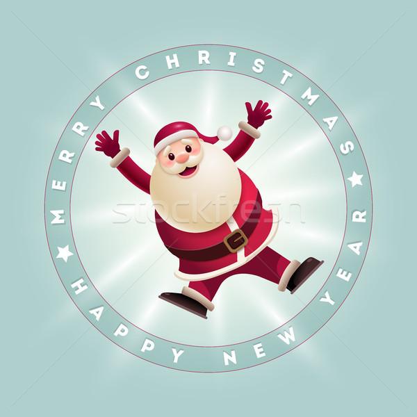Jumping Santa Card Stock photo © sgursozlu