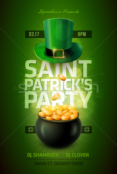 St. Patrick's Day Poster Stock photo © sgursozlu