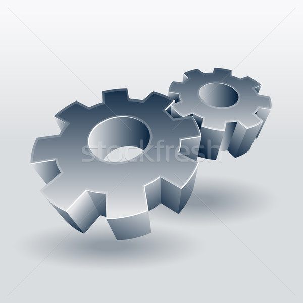 Gear wheel symbol Stock photo © sgursozlu