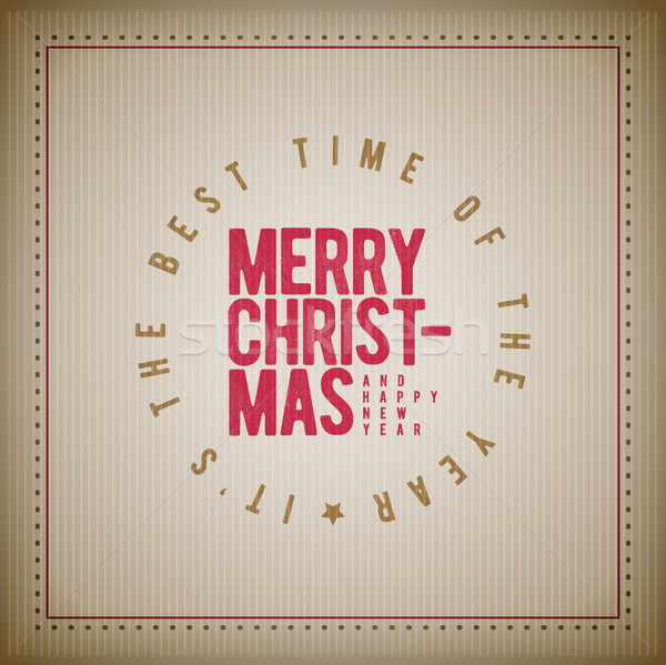 Foto stock: Natal · ano · novo · saudação · projeto · vetor · retro