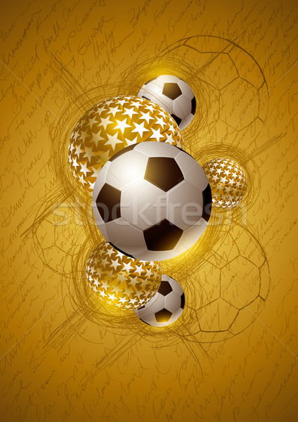 Gold Soccer Abstract Design Stock photo © sgursozlu