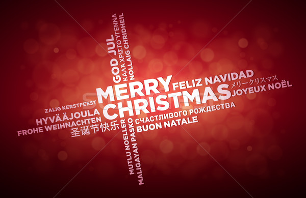 Taal christmas groet ontwerp vrolijk typografisch Stockfoto © sgursozlu