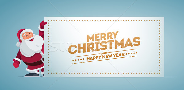 Kerstman banner christmas ontwerp Stockfoto © sgursozlu