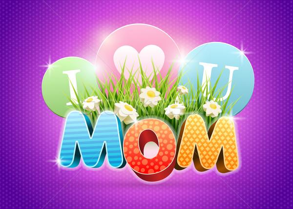 Mães dia cartaz modelo de design elementos Foto stock © sgursozlu