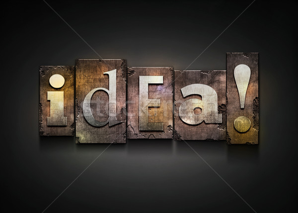 Idea letterpress. Stock photo © sgursozlu