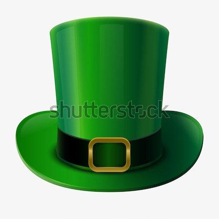 Yeşil şapka Aziz Patrick Günü elbise Stok fotoğraf © sgursozlu