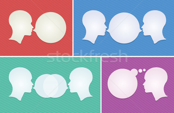 dialogue concept. Stock photo © sgursozlu