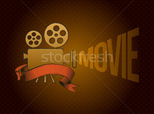 Film projector vector vintage hand film Stockfoto © sgursozlu