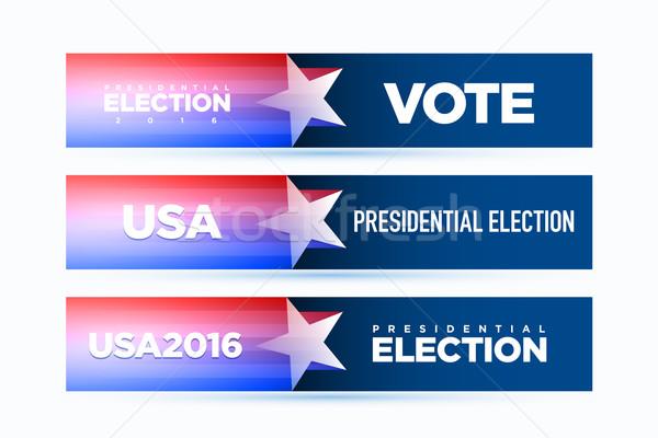 Americano bandeira vetor presidencial eleição 2016 Foto stock © sgursozlu