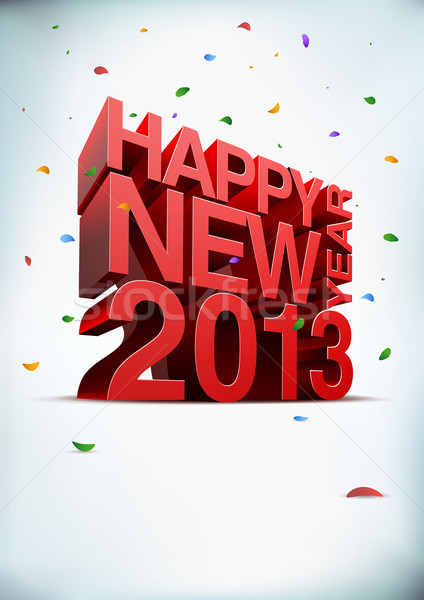 Happy new year 2012 Stock photo © sgursozlu