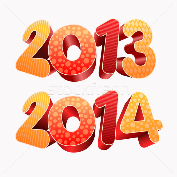 Year 2013 2014 3D Stock photo © sgursozlu