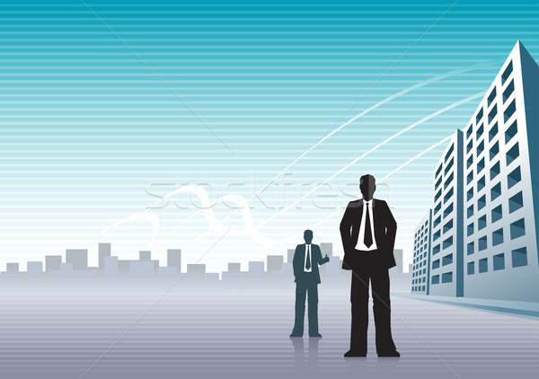 businessmen and buildings Stock photo © sgursozlu
