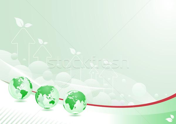Verde mundo resumen diseno capas vector Foto stock © sgursozlu