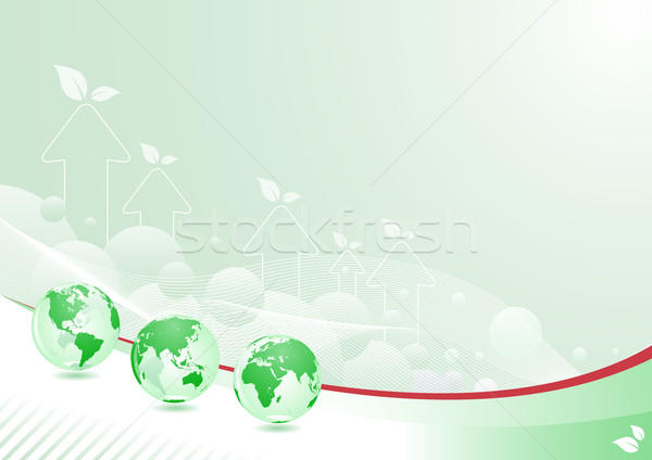 Groene wereldbol abstract ontwerp lagen vector Stockfoto © sgursozlu
