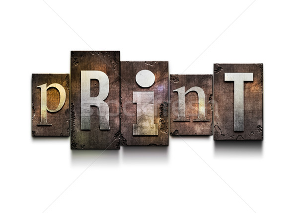Stock photo: Print letterpress.