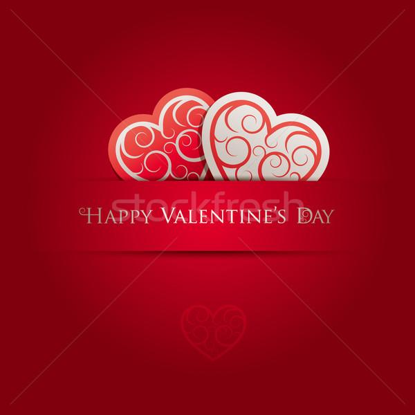 Valentin nap kártya összes elemek réteges külön Stock fotó © sgursozlu