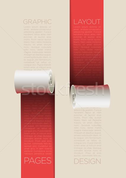 Page design layout vecteur papier ondulé affaires Photo stock © sgursozlu