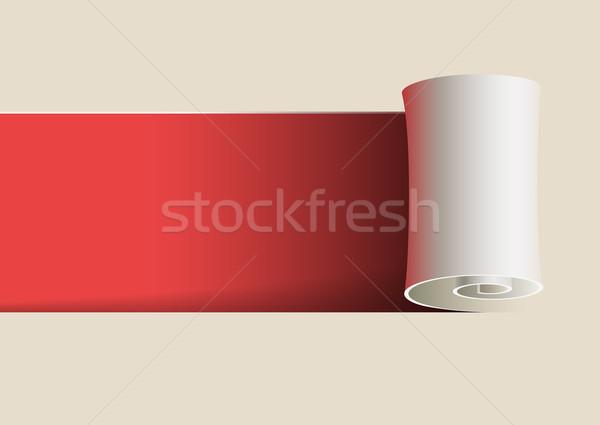 Papier ondulé séparément vecteur fichier Photo stock © sgursozlu