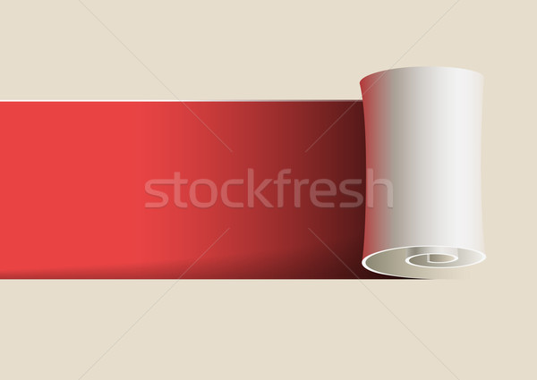 Curled Paper Stock photo © sgursozlu
