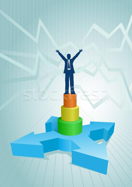 businessman on the graph. Stock photo © sgursozlu