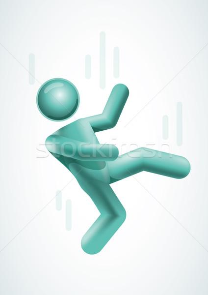 3D vektör adam düşen aşağı elemanları Stok fotoğraf © sgursozlu