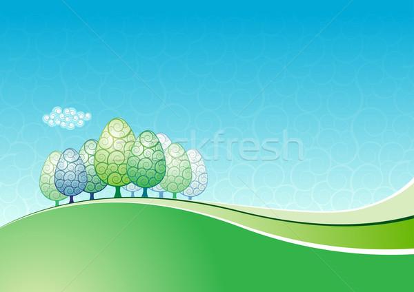 Stockfoto: Landschap · abstract · alle · communie · afzonderlijk
