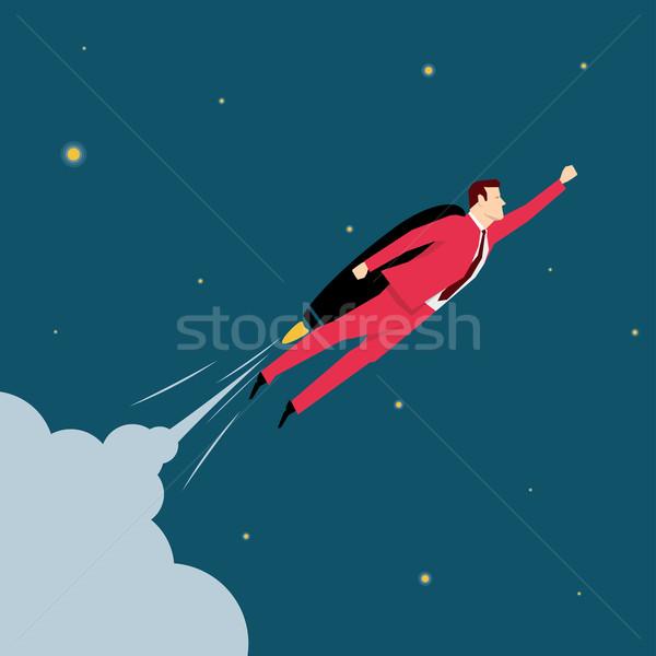 Stok fotoğraf: Kırmızı · takım · elbise · işadamı · iş · adamları · iş · gökyüzü