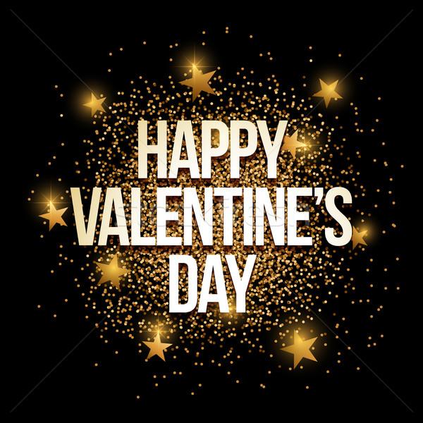 Valentin nap arany csillámlás szalag arany elemek Stock fotó © sgursozlu
