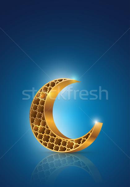 Ramadan mezzaluna muslim comunità festival simbolo Foto d'archivio © sgursozlu