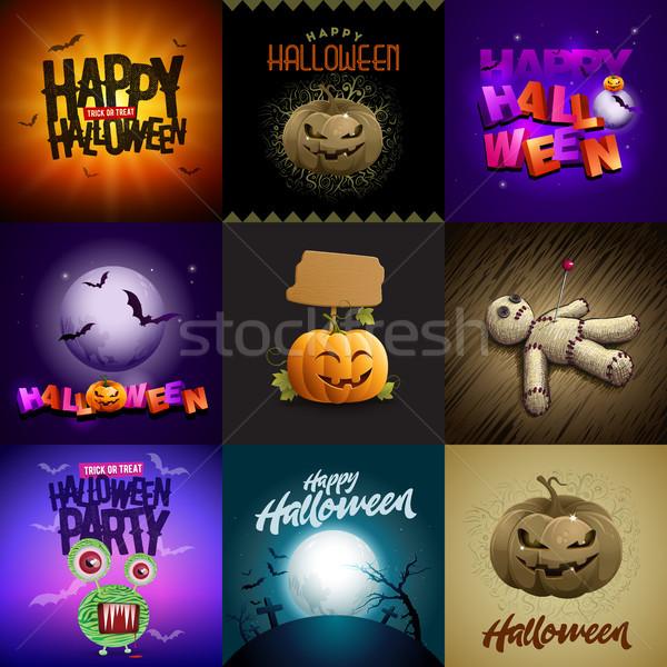 Halloween Design Set Stock photo © sgursozlu