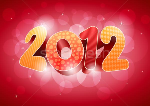 Nowy rok 2012 szablon elementy Zdjęcia stock © sgursozlu