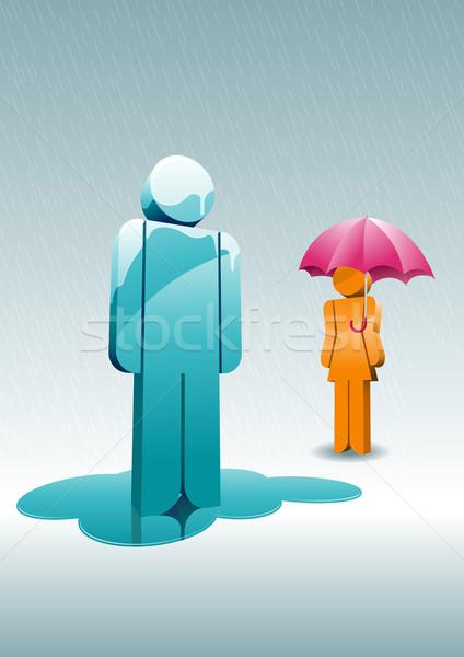 Rainy day. Stock photo © sgursozlu