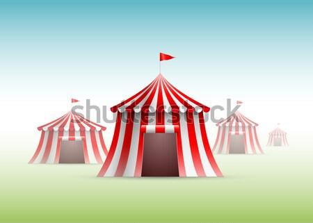Circo projeto azul bandeira vermelho férias Foto stock © sgursozlu