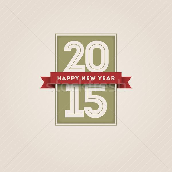 Новый год 2015 вектора ретро с Новым годом дизайна Сток-фото © sgursozlu